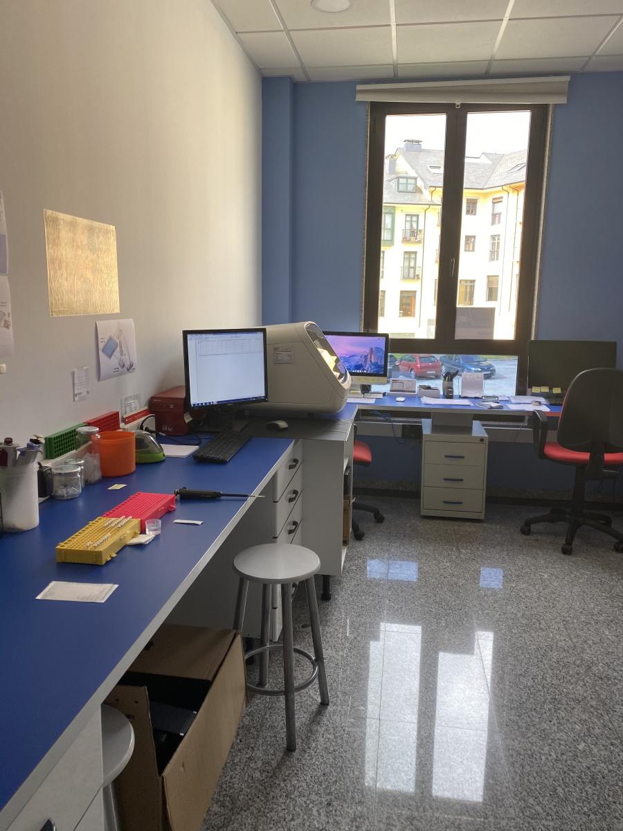 Imagen de uno de las salas del laboratorio de Ampligen